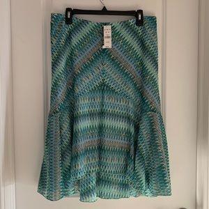 NY&CO High-Low Chevron Skirt